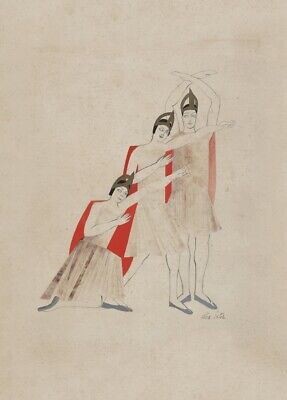 Male And Female Costume (Holy Etudes, Male and Female Costume Design ALEXANDRA EXTER  Ballet)