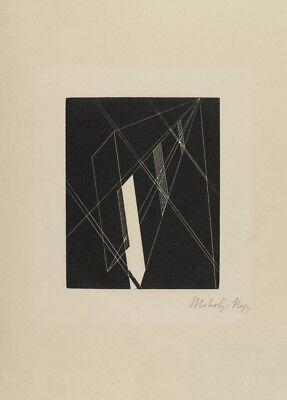 "LASZLO MOHOLY-NAGY  /""Yellow Cross QVII/"" 250gsm Bauhaus Constructivism Poster"