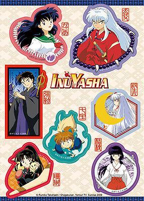 Inuyasha Characters Kagome Shippo Miroku Sesshoumaru Sticker Set License GE55558