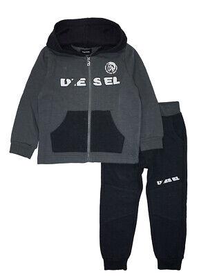 Jog Pant Charcoal (Diesel Toddler Boys Charcoal & Black 2pc Jog Pant Set Size 2T 3T 4T $65)