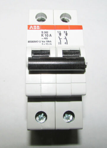 ABB 2CDS252001R0427 Miniature Circuit Breakers, 10A, 400VAC, 2 Poles