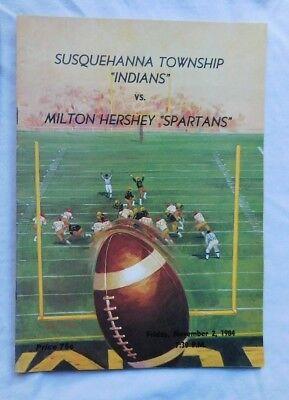 Susquehanna Township Indians Vs Milton Hershey High School Pa Program 11/2/84