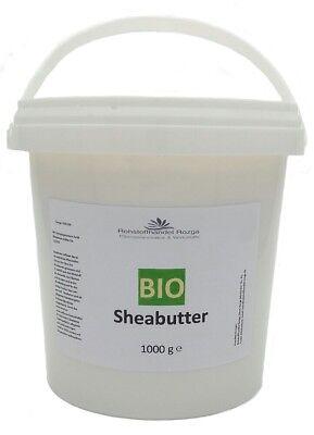 Bio Sheabutter 1 kg  Shea Butter  100% rein  (16,99/kg) 1000 g