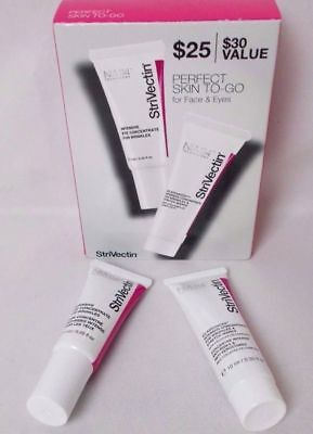 StriVectin $25 NIB Skin 2 Piece Perfect Skin To Go For WRINKLES Face And Eyes KM