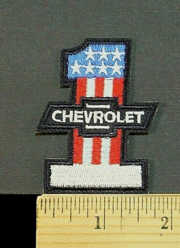 """Chevrolet Chevy #1  Iron-On Embroidered Patch 2.5"""" tall"""