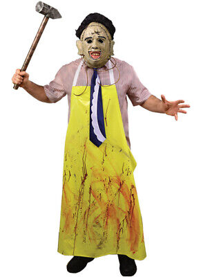 Texas Chainsaw Massacre Costumes (Authentic THE TEXAS CHAINSAW MASSACRE Leatherface Adult Costume X-Large)