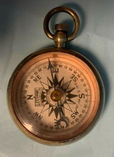 Antique Leedawl Patented 1918 Pocket Compass