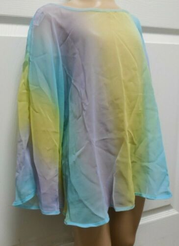 Wolff Fording Watercolor Drape with sleeves Child sz 4C Dance Lyrical