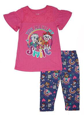 Paw Patrol Girls You Make Me Smile 2pc Capri Legging Set Size 2T 3T 4T 4 5 6 - Paw Me
