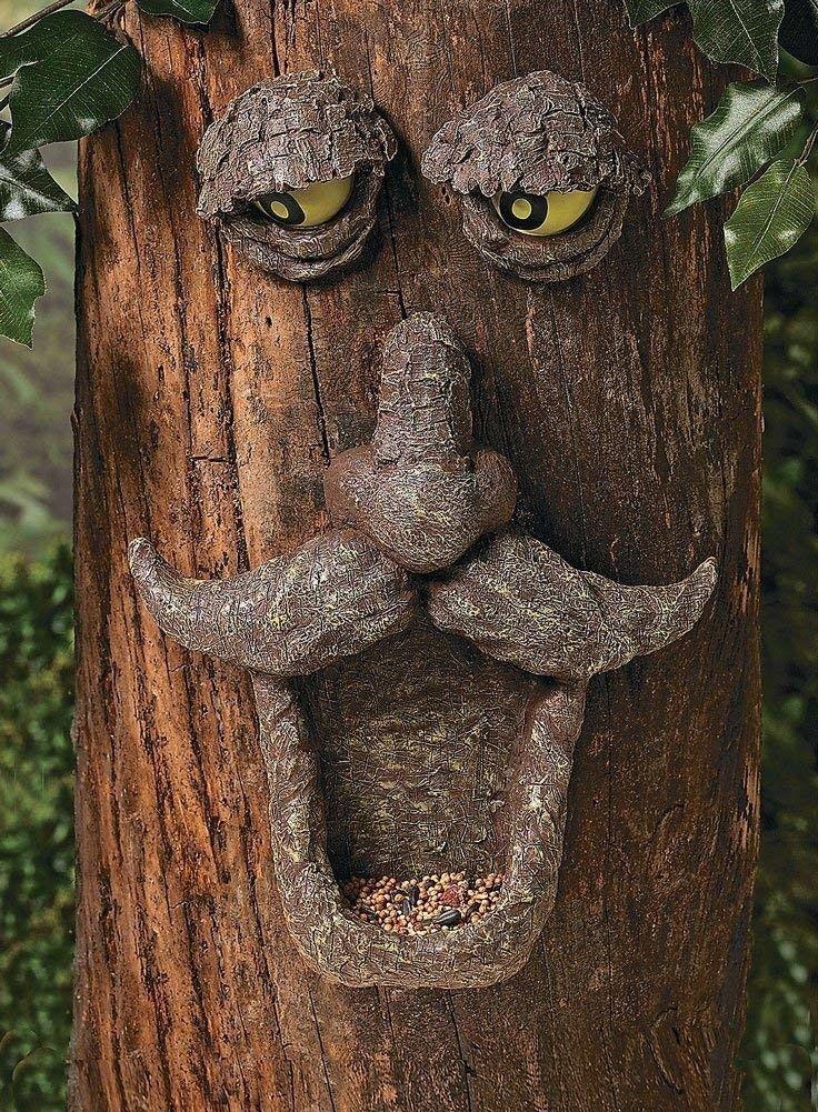 Fun Express Tree Face Bird Feeder Garden Yard Decor Painted