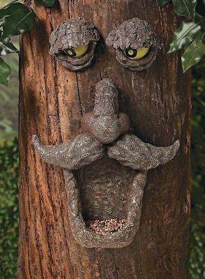 Fun Express Tree Face Bird Feeder Garden Yard Decor Painted Eyes Glows in Dark