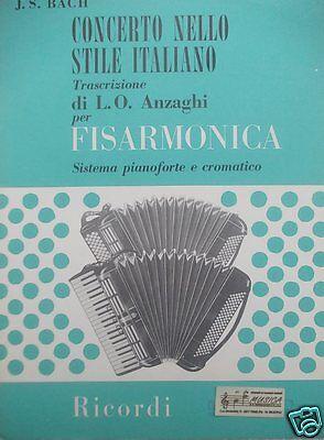 BACH Concerto nello stile Italiano per fisarmonica tipo pianoforte e cromatico