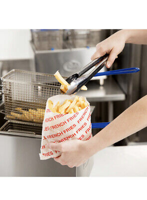 200 French Fry Fries Disposable Bags Small Plain Paper Wrapper 6x34 X 6 12