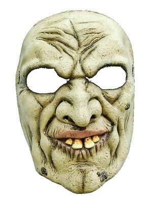 Halloween carnival party warlock costume mask horror latex for adults