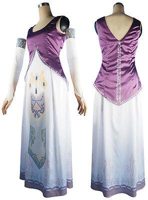 The Legend of Zelda Princess Zelda Deluxe Dress Halloween Cosplay Anime Costume  - Halloween Costumes Princess Zelda