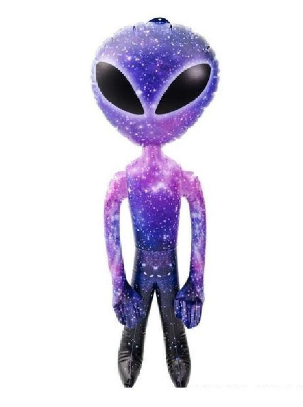 """36"""" Galaxy Alien UFO Inflate Space Birthday Party Decoration and Toy"""