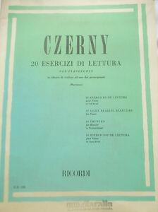 CZERNY-Carl-20-esercizi-di-lettura-per-pianoforte-edizioni-Ricordi