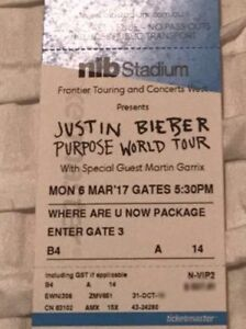 "Justin Bieber VIP ""Where are u now"" package Maylands Bayswater Area Preview"