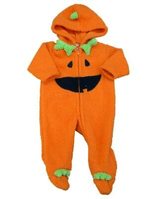 Happy Halloween Infant Boys Fleece Jack-O-Lantern Sleep & Play Pajama Sleeper - Happy Halloween Play