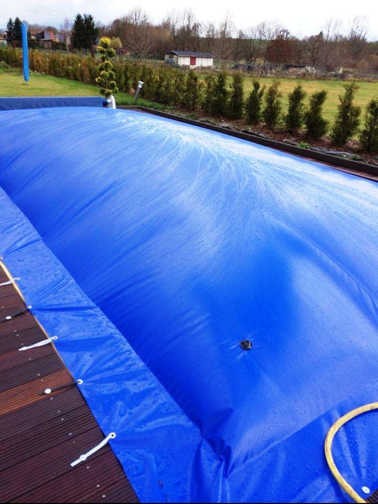 aufblasbare poolabdeckung poolplane rund 1300 g m. Black Bedroom Furniture Sets. Home Design Ideas
