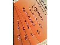 4 x Lee Memphis King Tickets