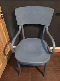 Blue carver chair