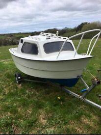 14ft fishing boat on galvanised RM trailer