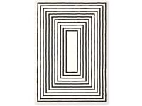 Next black and ivory rug 140x200 new in packet