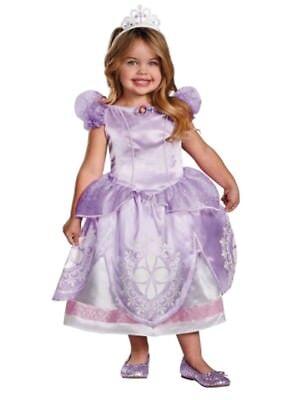 Toddlers Tiaras Halloween Costume (Disney Toddler Girls Sofia the First Halloween Costume with Dress & Tiara)