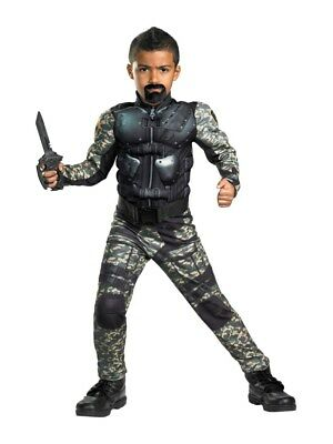 Boys With Muscles (G I Joe Boys Roadblock Costume with Muscle)