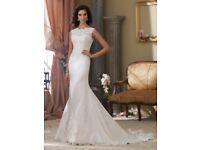 Size 18 wedding dress champagne David Tutera for mon Cheri brand new