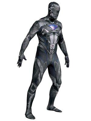 Mens Power Rangers Costume Black Ranger Suit Leotard Bodysuit