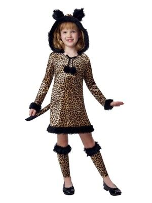 Girls Brown Witty Leopard Costume Cat Dress & Legwarmers - Witty Costumes