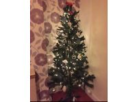 180cm/6ft Christmas tree + decorations + Christmas lights