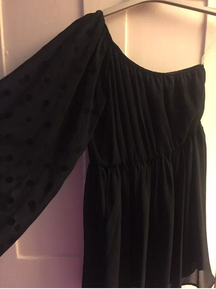 Teens One shoulder Black Dress
