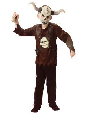 Boys Evil Viking Halloween Costume Top, Pants & Mask