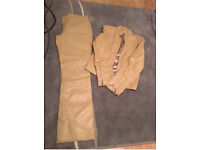 Leather Jacket and trouser set