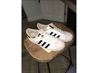 Adidas Superstars - Size 10.5 - White & Black
