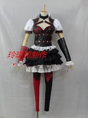 Batman Dark Knight Arkham Asylum Harley Quinn cosplay kostüm