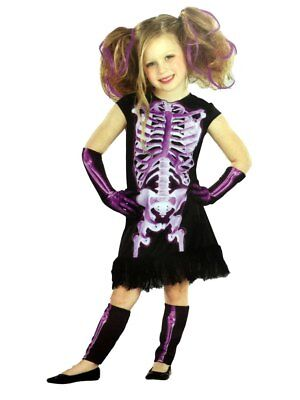 Totally Ghoul Girls Purple Shocking Xray Halloween Costume Dress Up Outfit](Shocking Halloween Costumes)