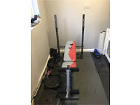 York Fitness Weight Bench With Leg Curl Attachment (Weight Plates Not Included)