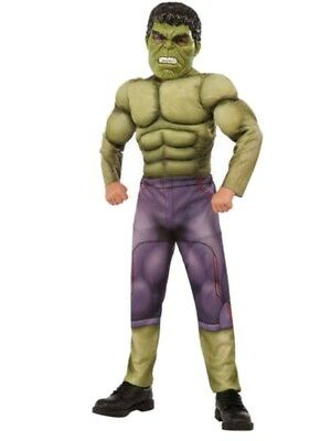 Boys Marvel Avengers Incredible Hulk Muscle Halloween Costume](Incredible Hulk Halloween)