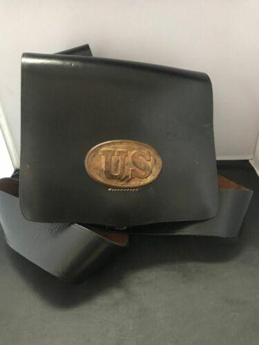 Civil War Musket Cartridge Ammo Leather Belt Bag Pouch Satchel Repro Reenactor