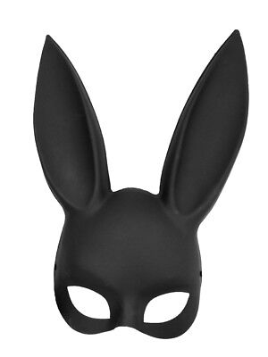 Giant Mask (Novelty Giant Adult Deluxe Sexy Bunny Half Mask Black )