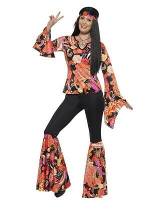 Smiffys Willow the Hippie 1960s Floral Adult Womens Halloween Costume 45516](Floral Halloween Costumes)