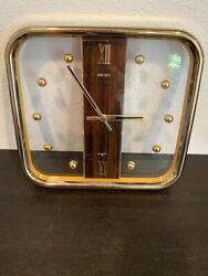 Vintage Seiko Quartz Wall Clock Mid Century , Mod 1970's Gold with balls