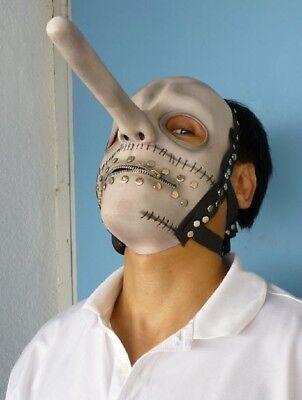 Chris Halloween Costume (Chris Fehn Latex MASK White Slipknot Halloween)