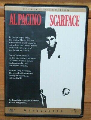 SCARFACE (1983) DVD   Brian De Palma • Al Pacino • Michelle Pfeiffer