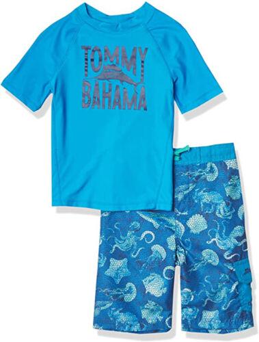 Tommy Bahama Boys S/S Blue 2pc Rashguard Set Size 2T 3T 4T 4 5 6 7