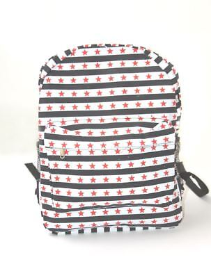 Clover Black and White Striped Star Backpack